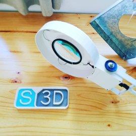 lampara lupa impresion3D diseño industrial soluciones3D